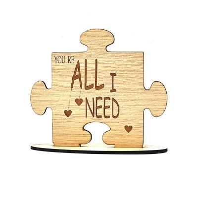 """Ξύλινο σταντ """"YOU ARE ALL I NEED"""""""