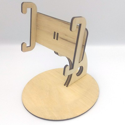 Stand κινητού περιστρεφόμενο ξύλινο