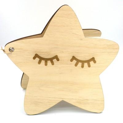Βιβλίο ευχών αστέρι ξύλινο