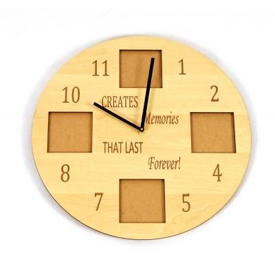"""Ρολόι τοίχου """"CREATES MEMORIES THAT LAST FOREVER"""""""