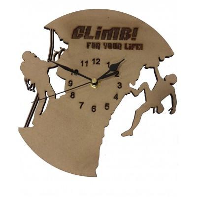 Ρολόι ξύλινο CLIMB FOR YOUR LIFE