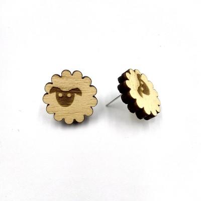 Σκουλαρίκια ξύλινα ΠΡΟΒΑΤΑΚΙ