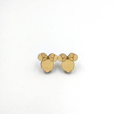 Σκουλαρίκια ξύλινα MINNIE