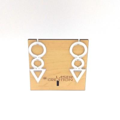 Σκουλαρίκια plexiglass καθρέπτης
